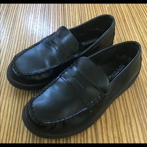 Boys Sperry Top-Sider Penny Loafers Black NWOB